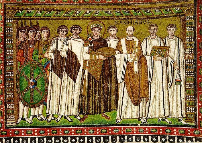 サン・ヴィターレ聖堂内のモザイク画