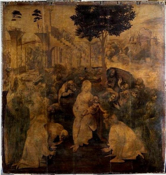 (Adorazione dei Magi) 1481-82年頃 246×243cm |ウフィツィ美術館(フィレンツェ)