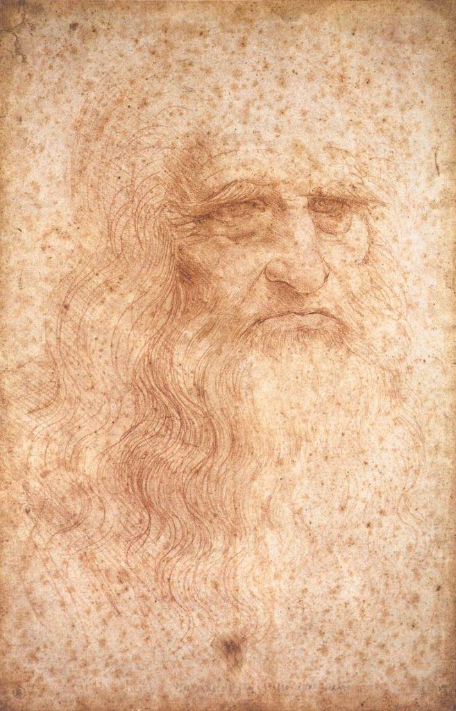 トリノ王立図書館、トリノ 製作年1512年頃 種類紙に赤チョーク 寸法33.3 cm × 21.6 cm (13.1 in × 8.5 in)