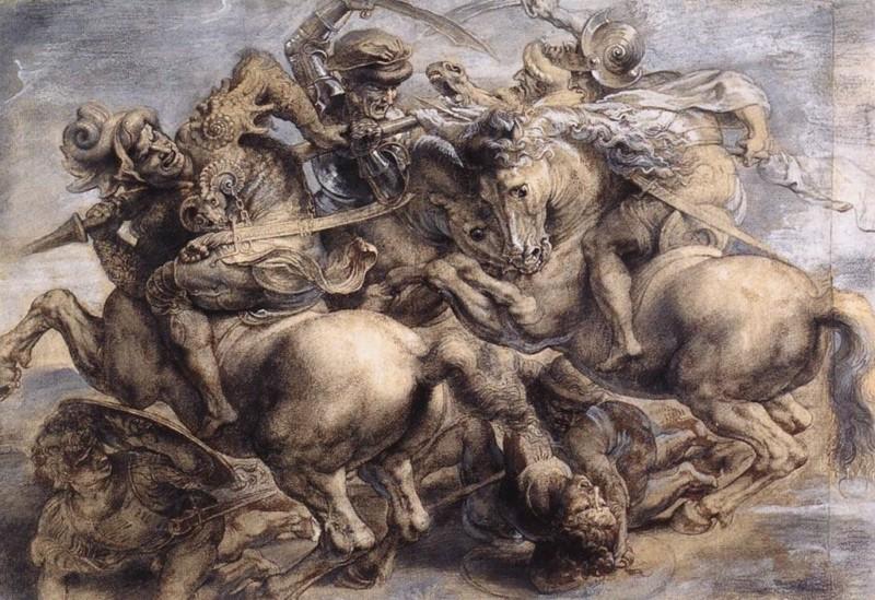 ダ・ヴィンチのアンギアーリの戦いの模写