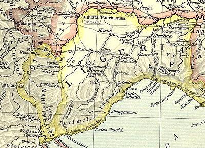 リグリア州地図