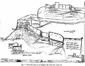 古代中世の、港要塞の例