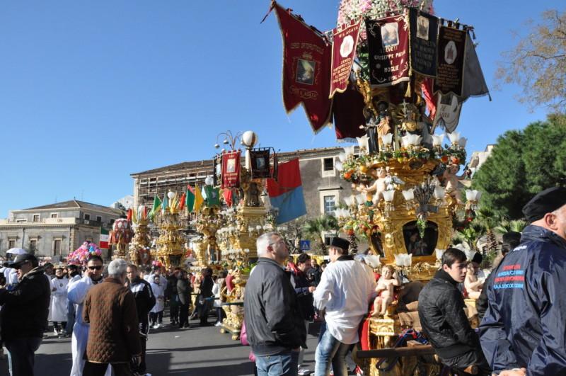 シチリア・カターニアの守護聖人 聖アガタのお祭り