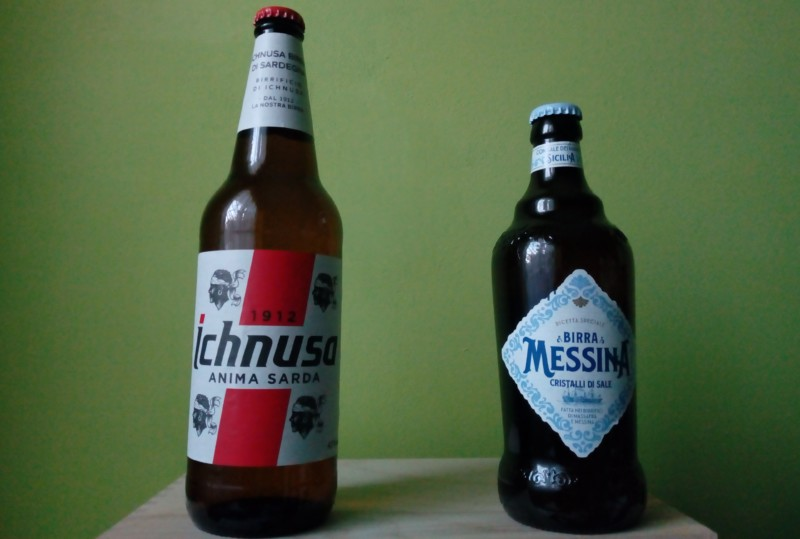 イタリアの島ビール!コーンを使ったイクヌーザビールと塩の結晶入りメッシーナビール
